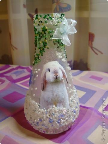 Вот такая новогодняя вазочка получилась . фото 1