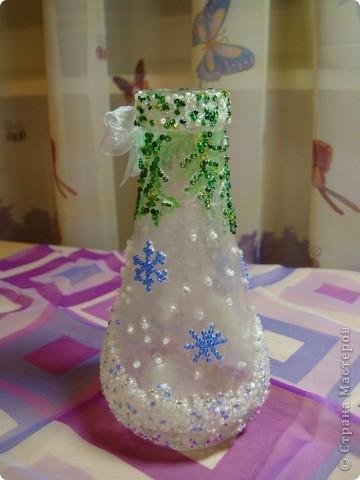 Вот такая новогодняя вазочка получилась . фото 2