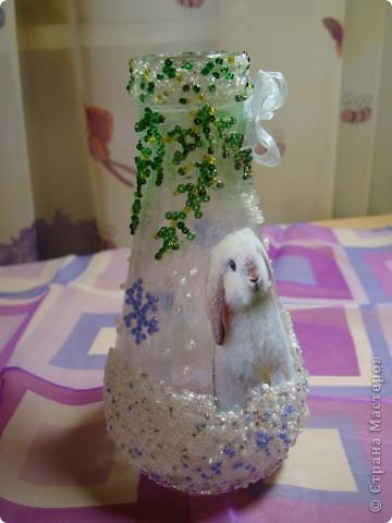 Вот такая новогодняя вазочка получилась . фото 4