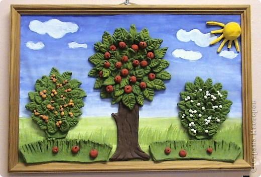 Рисунок сад с фруктами