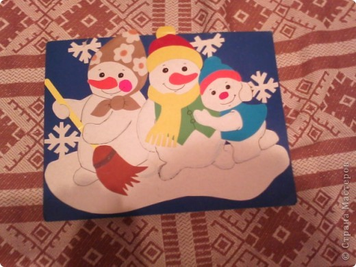 Снеговик с мешком подарков фото 2