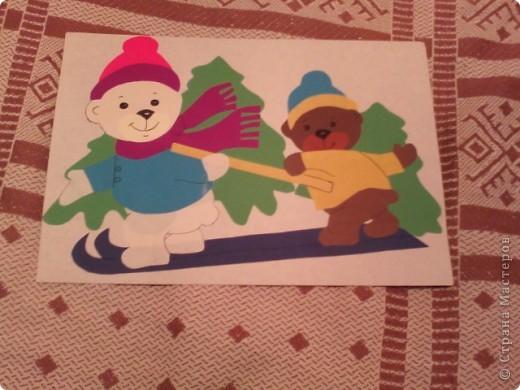 Снеговик с мешком подарков фото 3