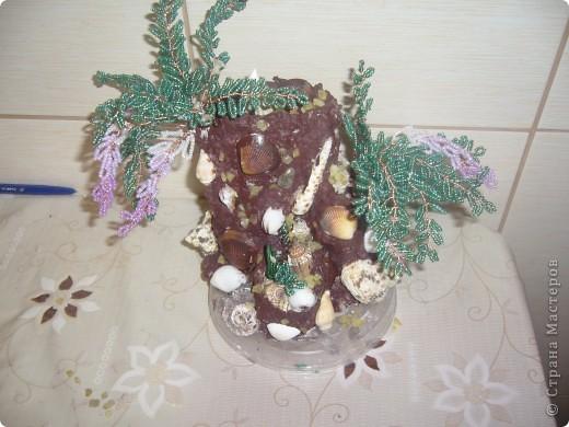 Поделка изделие Бисероплетение дерево из бисера Гуашь.