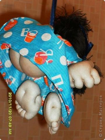 """Вот такая """"куколка-удача"""" появилась в нашей семье. Делала в подарок, но муж сказал - """"будет жить у нас!"""" фото 2"""