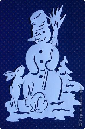 Снеговик и зайцы