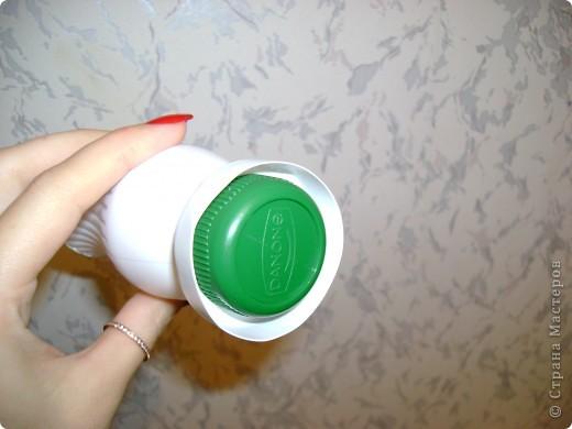 предлагаю сделать очень простую вазочку из под питьевого йогурта активия фото 5