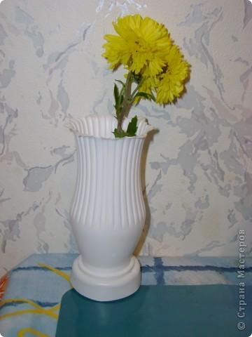 предлагаю сделать очень простую вазочку из под питьевого йогурта активия фото 1