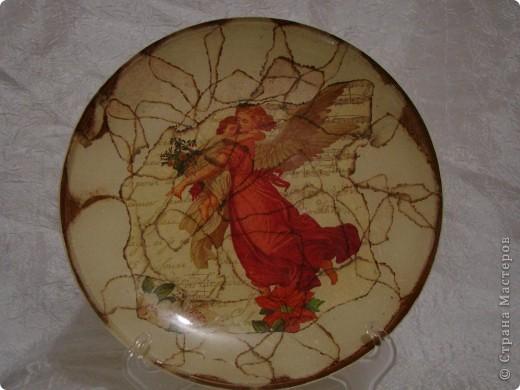"""тарелка """"Япоша"""" :) салфетка, акриловые краски, двух шаговый кракелюр, пастель и трафарет (иероглиф по нему рисовала) фото 6"""