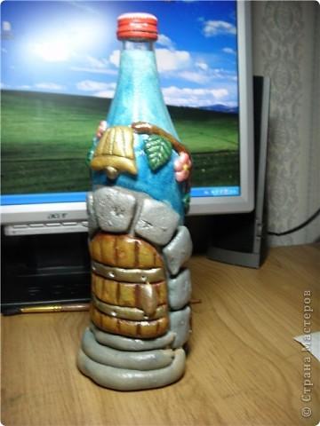 Вот такая бутылочка получилась! Идея как всегда не моя, а где то подсмотрена. фото 2