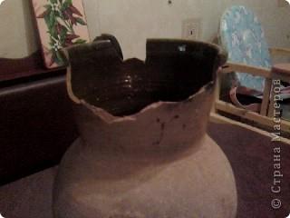 вот такая ваза у меня получилось, правда ещё без лака фото 2