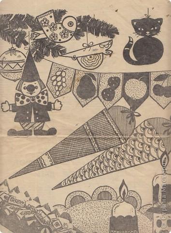 """Как украшали елку  ваши мамы, бабушки ваших детей. Чем украшали елку вы сами? У кого-то сохранились старые елочные игрушки. Они есть на нашем сайте, по-моему, у Викторички. Мы же рассмотрим вырезки из журналов. Что предлагали они мастерицам того времени?  Некоторые идеи мы и сейчас используем в своей работе, не догадываясь,  сколько им лет! Журнал """"Работница"""" № 11, 1967 год. фото 3"""