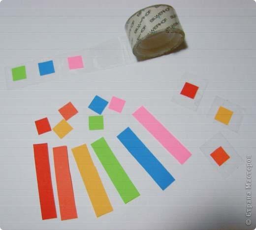 Наипростейшие игрушки на ёлку из бумаги - подвески. Основа - равнобедренный треугольник. Для изготовления одной подвески  используем 2-3 треугольника.Можно и больше...  фото 5