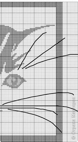 Контурная кошечка, выполненная полукрестом фото 5
