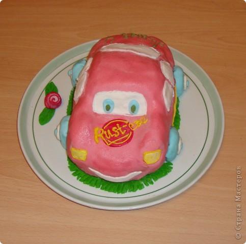 Вот такой тортик я сделала к четырехлетию сына. фото 1
