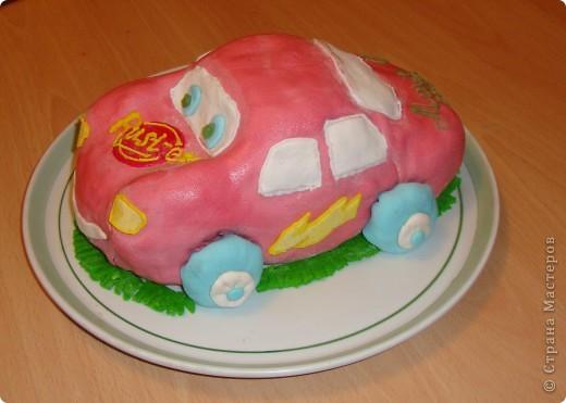 Вот такой тортик я сделала к четырехлетию сына. фото 2