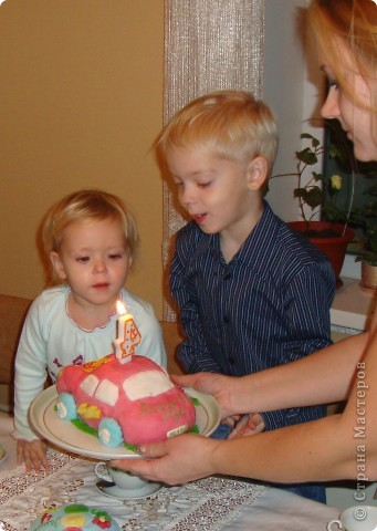 Вот такой тортик я сделала к четырехлетию сына. фото 4