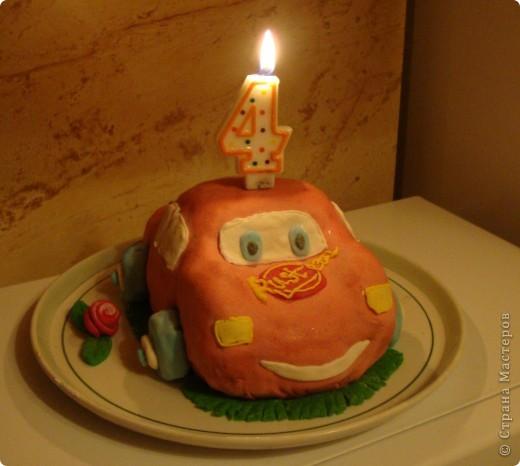Вот такой тортик я сделала к четырехлетию сына. фото 3