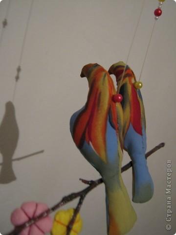 Искала в интернете текстильные игрушки, и увидела стаю птиц! Теперь у меня тоже живут эти прекрасные птицы! фото 2