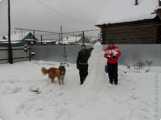 Всю ночь шел снег, ну просто валил. а днём потеплело, вот мы и решили воспользоваться моментом. фото 2