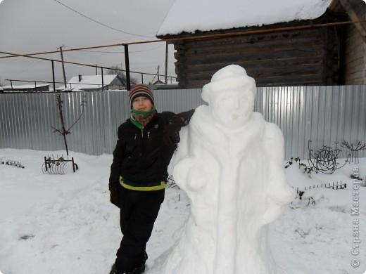Всю ночь шел снег, ну просто валил. а днём потеплело, вот мы и решили воспользоваться моментом. фото 3