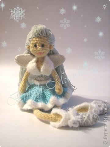 У меня связалась девочка - Снежная феечка. Размер 45 см. фото 1