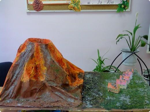 Макет вулкана из соленого теста своими руками 27