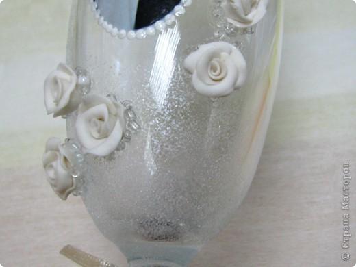 Хочу поделиться, как я делала бокалы для родителей на юбилей свадьбы. Тут было много разных вариантов, но с фото не видела, так что выкладываю свои фото 9