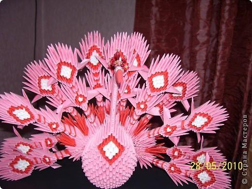 Жар-птица модульное оригами