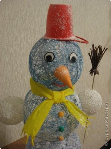 Вот такого снеговика сделали с дочкой. фото 1