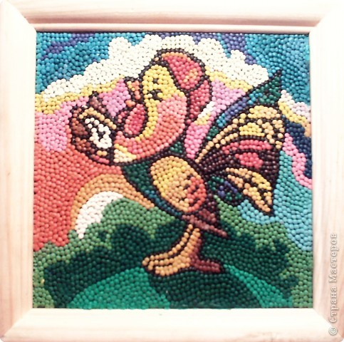 Картинка из пластилиновых шариков