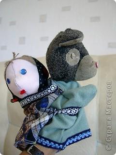 Маша и медведь. Куклы на руку. фото 1