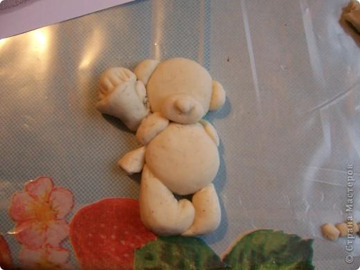Мишка Тедди с цветочками фото 6