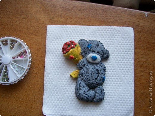 Мишка Тедди с цветочками фото 10