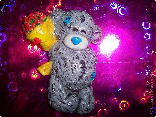Мишка Тедди с цветочками фото 11