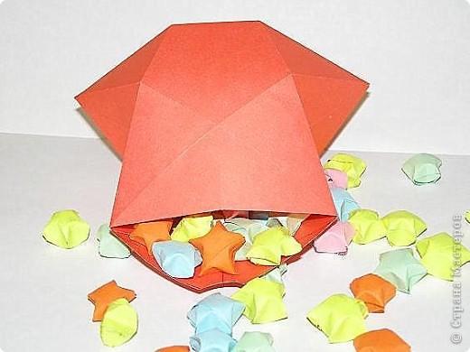 Вот такую коробочку-звёздочку предлагаю  сделать буквально  к любому празднику.Использовать не обязательно, как упаковку, можно и на ёлочку повесить. фото 3