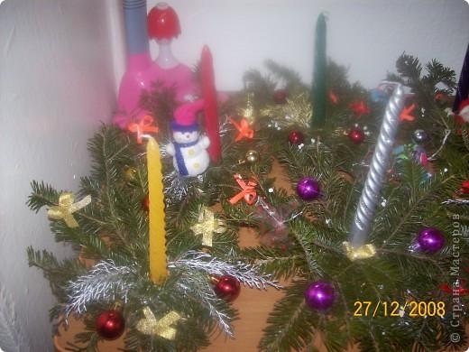 Новогодние композиции со свежей елью фото 1