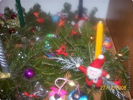 Новогодние композиции со свежей елью фото 2