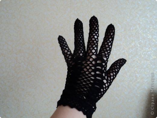 """Перчатки-моя страсть нитки""""Сирень"""" фото 3"""