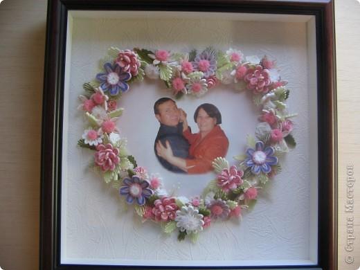 Знакомые, увидев мои работы попросили сделать им эту картину. Выбор композиции, веночка, цветовой гаммы - заказчика. За основу взята работа Анны Хомяковой http://www.art-khome.blogspot.com/, спасибо, Анечка, что учите нас! Размер работы в рамке - 30х30см. фото 1