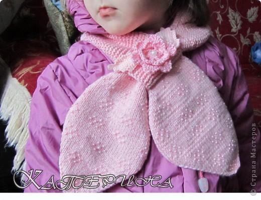 Вот такой бисерный шарфик получился в продолжении рукавичек.  фото 3