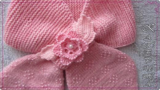 Вот такой бисерный шарфик получился в продолжении рукавичек.  фото 1