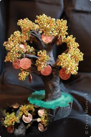 Денежное дерево из бисера