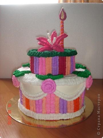 Вот и я тортик сделала! Спасибо Татьяне Просняковой!!!)))