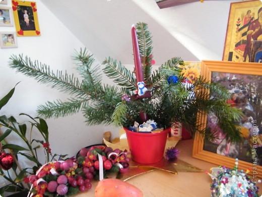 Елочка из коктейльных трубочек, идею у кого-то утащила, у кого , не могу вспомнить))) фото 3