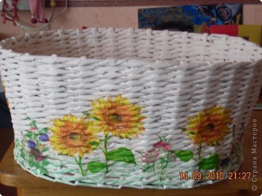 Это моя вторая работа в технике плетения из газет, первая была тут же подарена сестрёнке. фото 1
