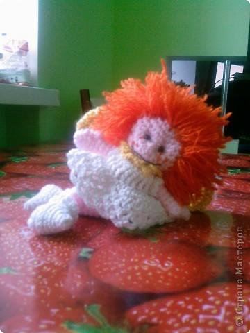 Вот такого ангела Вдохновителя я увидела в интернете http://amigurumi.com.ua/pattern/37-dlya-opitnih/139-angel-vdohnovitel мастер класс Тамары Новак и решила себе такого связать. фото 2