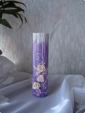 Вот такая свеча получилась из журнала. фото 1