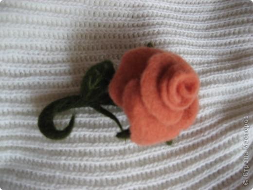 Розочка, можно использовать как брошь. или заколку. фото 1