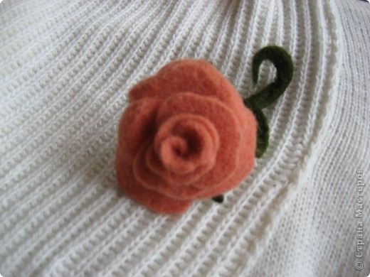 Розочка, можно использовать как брошь. или заколку. фото 2