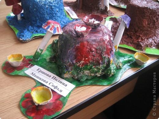 Работа из папье-маше учеников 4 класса . Для поделки вместо газет использовалась упаковка из-под яиц мелко измельченная и залитая водой для набухания. Потом немного клея ПВА - можно лепить. фото 2